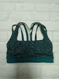 Lululemon Womens Gym Workout Yoga Pilates Bra in Green Size 4