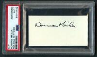 Norman Mailer (d 2007) signed autograph 2x3.5 cut Novelist & Journalist PSA Slab