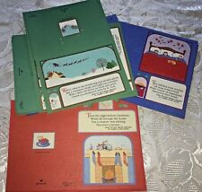 Vtg Hallmark Christmas Cards LOT of 14 Twas Night Before Carol Beal Santa Cat