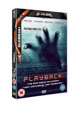 Playback (Region 2 DVD, 2012) - Christian Slater - Toby Hemingway - Horror NEW