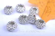20pcs 6*4mm charm beads silver plated metal bead spacer diy jewelry jewelry 7005