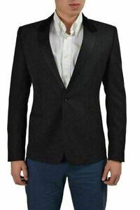 Dolce & Gabbana Wool Silk Black Two Buttons Tuxedo Men's Blazer US 38 IT 48