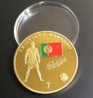 Cristiano Ronaldo-Real Madrid Gold Plated Souvenir Coin