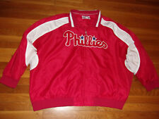 MAJESTIC PHILADELPHIA PHILLIES FULL ZIP MEDIUMWEIGHT JACKET MENS 6XL EXCELLENT