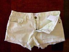 Current Elliott Women 28 Shorts Neon Yellow Green Boyfriend Frayed Denim Pants