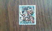 sello usado navidad, nacimiento, de Salzillo. X serie edifil 1838 año 1967
