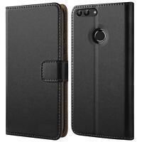 Handy Hülle für Huawei P Smart Case Schutz Tasche Cover Basic Book Flip Schwarz