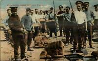 WWI British Soldier Cooks Baking Bread c1915 Postcard