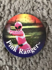 Vintage 90s Pink Ranger Mighty Morphin Power Rangers POG Power Cap Caps #20