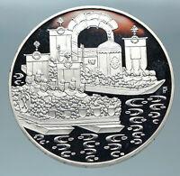 1993 AUSTRIA Hallstatt Town LAKE BOATS Proof Silver 500 Schilling Coin i84378