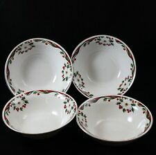 Gibson Winter Belle Soup Bowls Xmas  Lot of 4