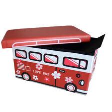 50x30x30cm Faltbarer Sitzhocker Aufbewahrungsbox für Kinder Kinderzimmer 165030H