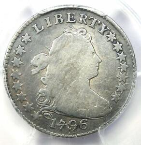 1796 Draped Bust Dime 10C Coin - Certified PCGS Fine Detail - First Dime Minted!