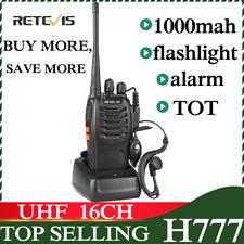 Retevis H-777 Uhf Walkie Talkie 5W Portable Long Range Radio>Baofeng 888S