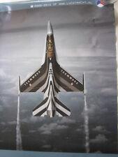 """Poster RNLAF (KLu) F-16 Solo Display 2003-2004 Capt.Christian """"Louis"""" van Gestel"""