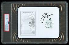 Jack Nicklaus signed autograph Augusta National Golf Club Masters Scorecard PSA