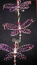 Collectable  Unique Purple Velvet Butterfly Christmas Ornaments