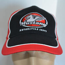 Mustang Motorcycle Seats Hat Black Red Pegasus Logo Bike Baseball Ball Cap Lid
