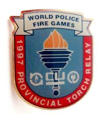 World Police Fire Games 1997 Provincial Torch Relay pin
