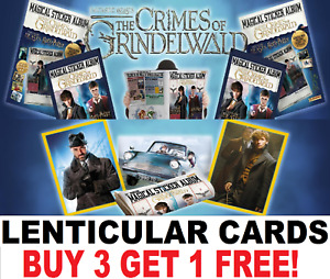 Panini ☆ FANTASTIC BEASTS CRIMES OF GRINDELWALD ☆ RARE LENTICULAR Sticker Cards