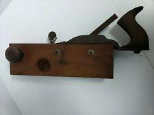 Antique Wooden Wood Plow Plane Adjustable Screw Knob Woodworking Tool Planer