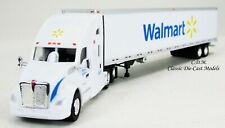 Kenworth T680 White Sleeper Cab WALMART w/53' Reefer Trailer 1/87 HO TNS015
