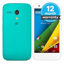 Motorola MOTO G 4G (2nd Gen) - 8GB - White/Blue (Unlocked) Smartphone