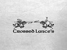 CROSSED LANCES - FOOT AND ARCHERY RULES WITH CROWD EVENTS - CURTEYS MINIATURES