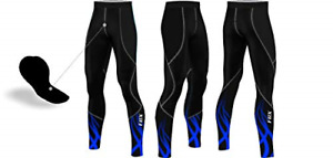 FCX Mens Cycling Trouser Pants Compression Padded Winter Thermal Long Bicycle