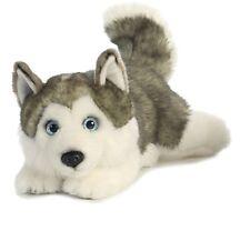 "11"" Lying Husky Dog Plush Stuffed Animal Toy - New"