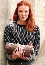 "Knitting Pattern Donna 32-50"" Polka Dot Sweater MARTIN Storey DK SKM AUA"