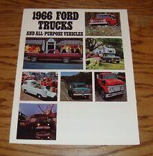 Original 1966 Ford Truck Full Line Sales Brochure 66 Pickup Ranchero Bronco