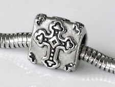 Triangle Cross Charm Stainless Steel Spacer Bead Fits European Charm Breacelets