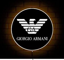 ARMANI LOGO EMPORIO GIORGIO DESIGNER JEANS BADGE SHOP SIGN LED LIGHT BOX