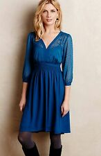 New $148 ANTHROPOLOGIE Celeste Dress by HD in Paris, 6P,  Blue