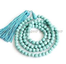 108 Prayer Beads Necklace Aaa8mm Turquoise Tibet Buddhist