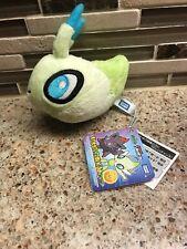 "Celebi Head Pokemon Plush Keychain New With Tag 4"" RARE 2010 Movie Plush"