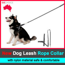 Large Silver Dog Harness collar Lead leash strap chain Adjustable  Dog Puppy Pet