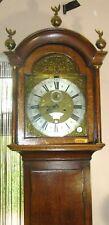More details for oak early 8 day oak brass dial long case clock robert coster newbury