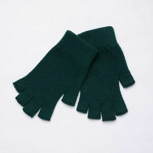 Half Finger Cashmere Gloves Fingerless Short Wool Knitted Mitten Winter Warm