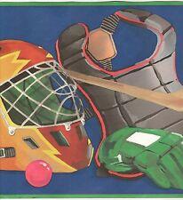 Kids Wallpaper Border For Sale / Hockey Skates Helmets Sticks