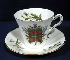 Adderley Fine Bone China MacGregor Clan Scot Tartan Color Tea Cup and Saucer Set