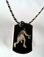 Basketball Player Dribbling Shooting Sport Dog Tag Metal Chain Necklace Jewelry