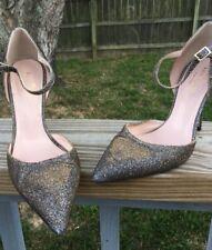 Kate Spade  Glitter Black /gold Heels  Size 6B