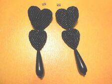 """(02676) Ohrstecker - """"black hearts"""" - suuuuper - ansehen u. kaufen !!!"""