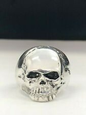925 Sterling Silver Keith Richards Skull Ring Heavy Antiqued NEW