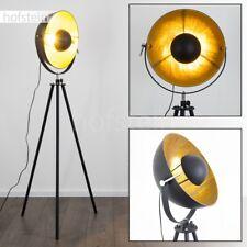 Lampadaire Design Projecteur Noir/Doré Éclairage de bureau Lampe sur pied 170271