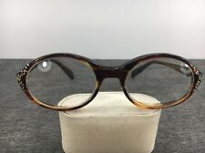 Vintage Swank Eyeglasses BETTY 48-22 Tortoise Italy Frames Only 2402