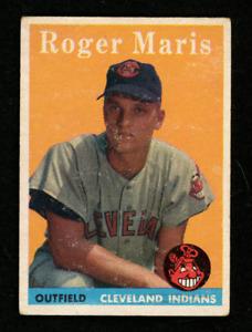 1958 Topps Set Break # 47 Roger Maris VG-VGEX (MK) CENTERED NO CREASES/WRINKLES