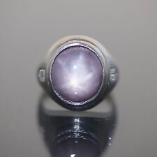 Vintage solid Platinum 950 natural Star Ruby and VVS-1 Diamond heavy ring 21.5ct